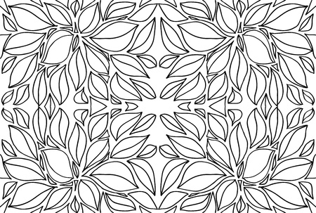 abstract sketch of leaf background  Vector illustration Stock Vector - 13375812