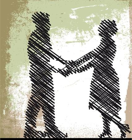 Sketch of dancing couple. Vector illustration Vector