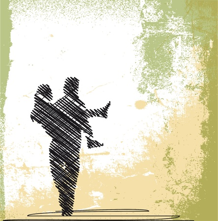 abstract sketch of groom carrying bride. vector illustration Vector