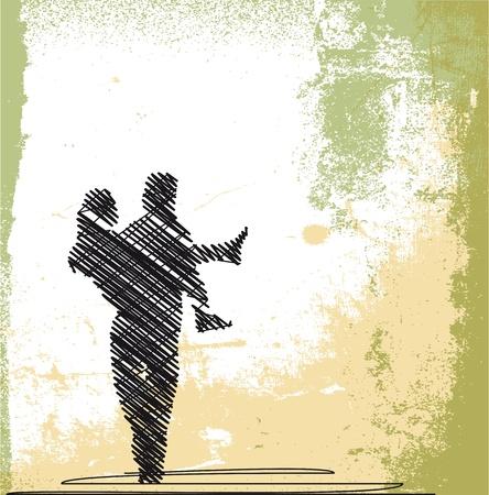 heterosexual: dibujo abstracto de la novia, novio, de transporte. ilustraci�n vectorial Vectores