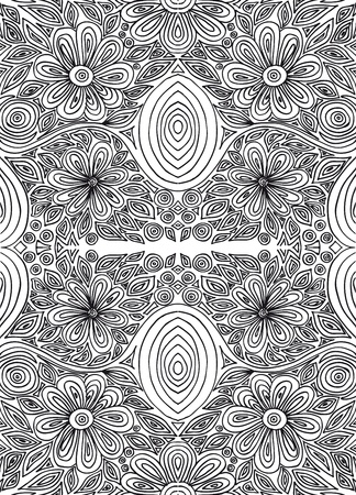 Hand drawn abstract flowers  vector illustration  Vector