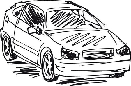prestige car: sketch of 3 cars  Vector illustration Illustration