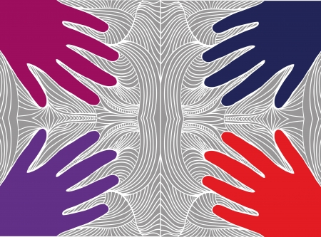 Sketch of hand on abstract background. vector illustration Stock Vector - 13624632