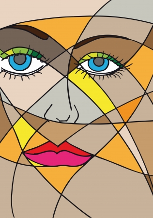 Abstract woman face. Vector illustration Stock Vector - 13624563