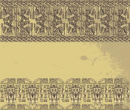 Grunge inca background. Vector illustration Stock Vector - 13624692
