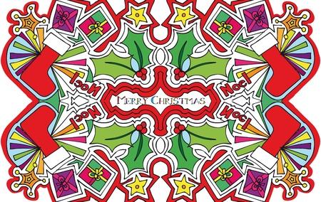 natale: christmas illustration.