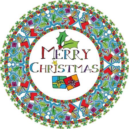 natale: Christmas Background. illustration.