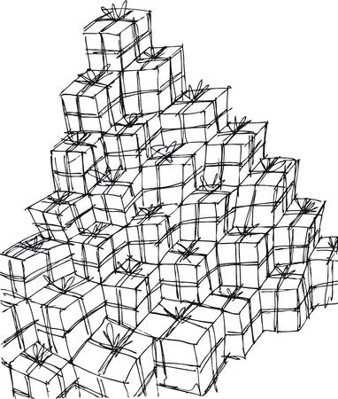 rough: gift boxes illustration Illustration