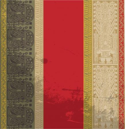 cultura maya: Grunge Inca patrón. Ilustración vectorial