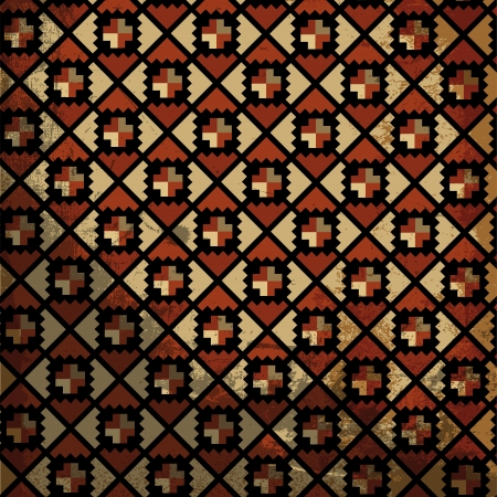 Grunge inca motif. Vector illustration