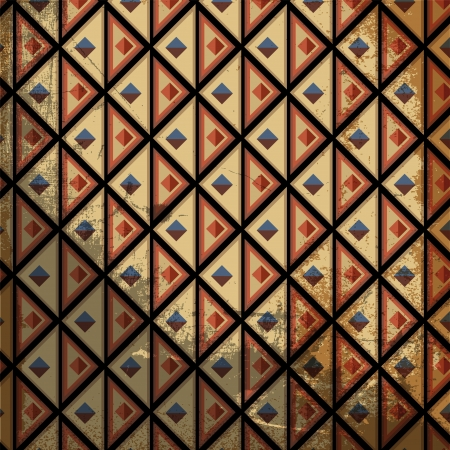 sudamerican: Grunge inca pattern. Vector illustration