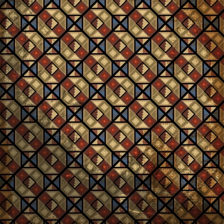 Grunge inca motif. Vector illustration Vecteurs