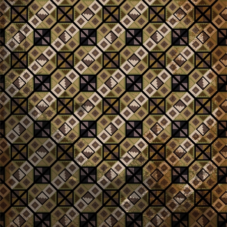 geoglyphs: Grunge inca pattern. Vector illustration