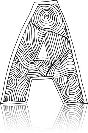 Abstract hand getekend brief. Vector illustratie