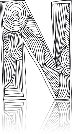 hand write: Abstract hand drawn letter  vector illustration
