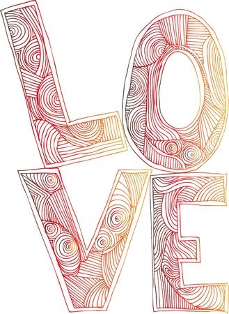 LOVE  vector illustration Stock Vector - 13930053