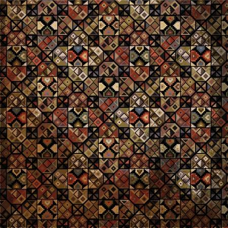 Grunge inca pattern  Vector illustration