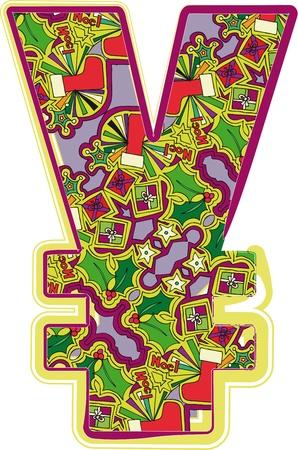 Christmas hand drawn symbol. Vector illustration Vector