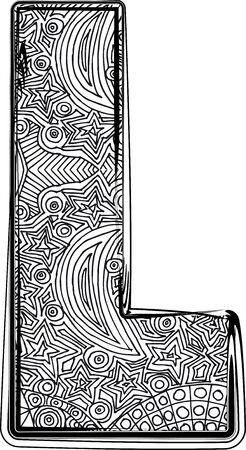 Fantasy font illustration Vector