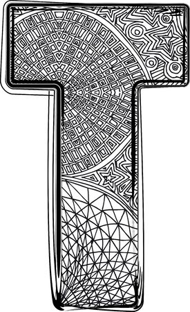 Fantasy font. Vector illustration Vector