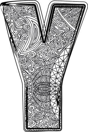 midnight: Fantasy font. Vector illustration