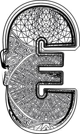 Fantasy font. Vector illustration Stock Vector - 14164839