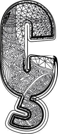 portugese: Fantasy font. Vector illustration