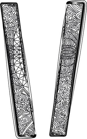 Fantasy font illustration Stock Vector - 14164786