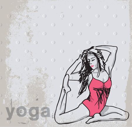 Abstract Sketch of Woman meditating and doing yoga. illustration Stock Vector - 14227105