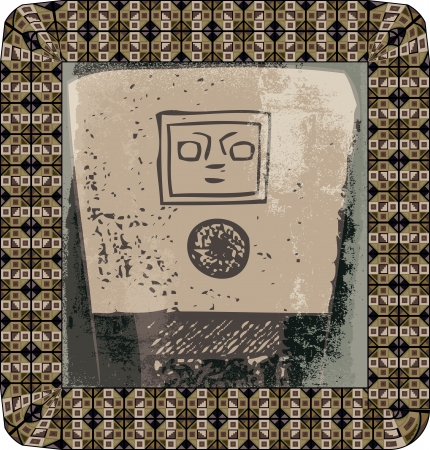 Grunge inca icon. Vector illustration Vector