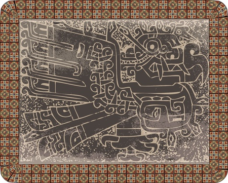 cultura maya: Grunge Inca icono. ilustración