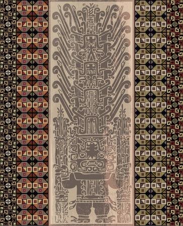 Grunge inca icon. illustration Stock Vector - 14227138