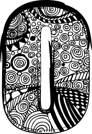 abecedario graffiti: Carta o con el dibujo abstracto.