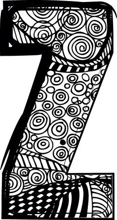buchstabe z: Buchstabe Z mit abstrakte Zeichnung. Vektor-Illustration