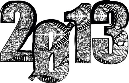 happy new year 2013. Vector illustration Stock Vector - 14394306