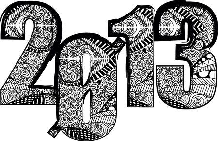 happy new year 2013. Vector illustration Stock Vector - 14394306