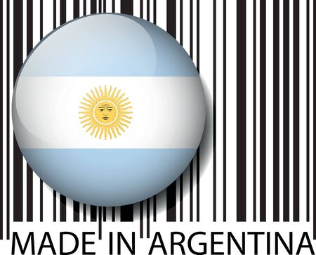 Made in Argentina barcode. Vector illustration Vector