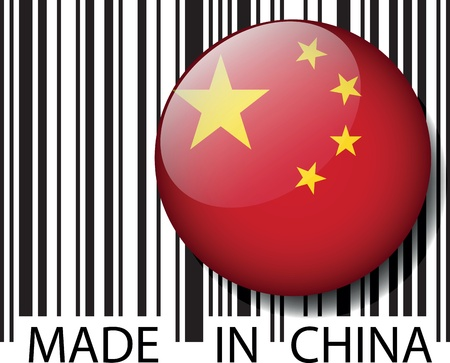 Made in China barcode. Vector illustration Vector