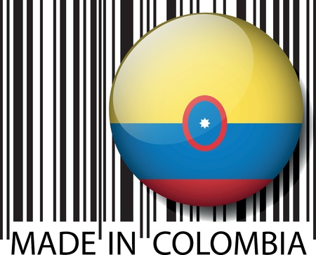 Made in Colombia barcode. Vector illustration Vector