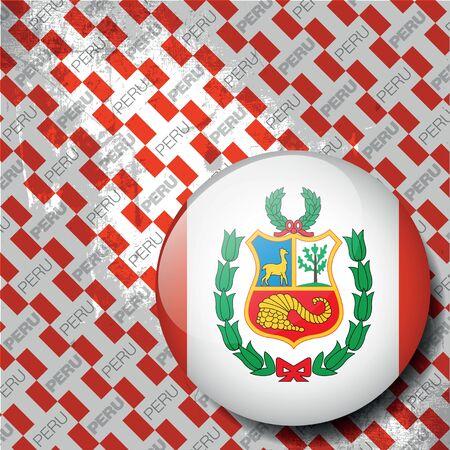 bandera de peru: símbolo peruano, ilustración vectorial Vectores