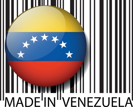 Made in Venezuela barcode. Vector illustration Stock Vector - 14404837