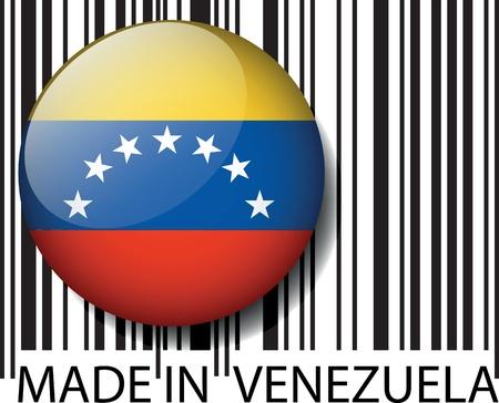 venezuela: Made in Venezuela barcode. Vector illustration