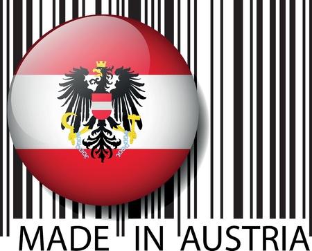 Made in Austria barcode. Vector illustration Illustration