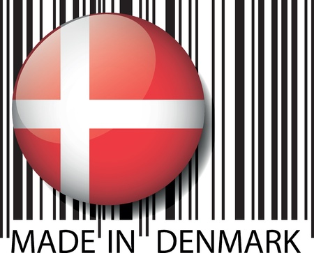 Made in Denmark barcode. Vector illustration