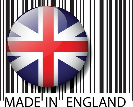 Made in England barcode. Vector illustration Vector