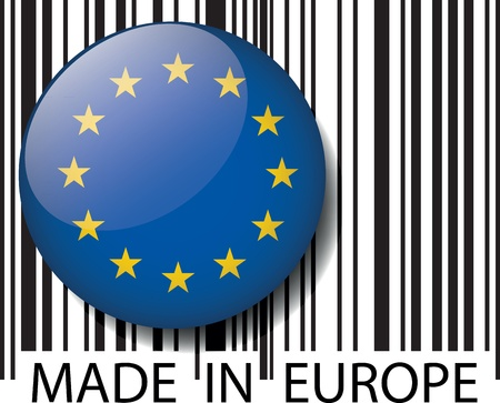 Made in Europe barcode. Vector illustration Stock Vector - 14404855