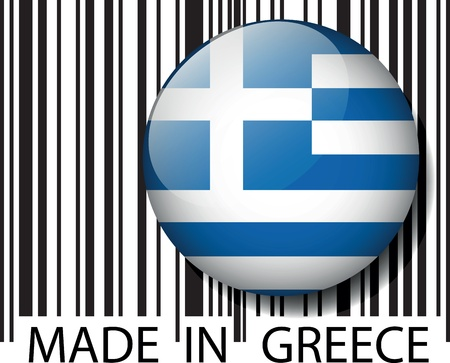 Made in Greece barcode. Vector illustration Stock Vector - 14404843
