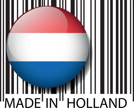 Made in Holland barcode. Vector illustration Stock Vector - 14404841