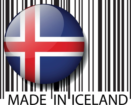 Made in Iceland barcode. Vector illustration Vector