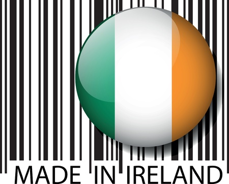 Made in Ireland barcode. Vector illustration Vector